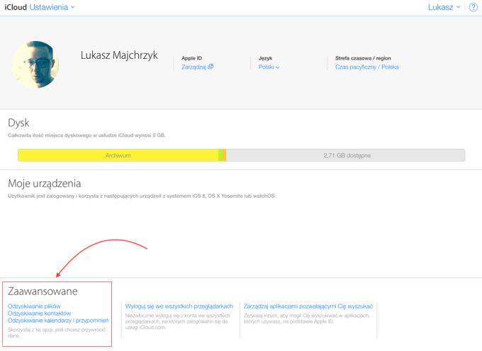 Odzyskiwanie usuniętych danych z iCloud