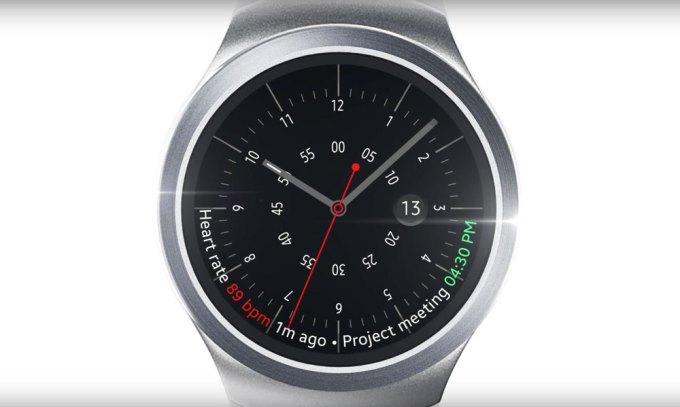 Samsung Gear S2 - tetno i powiadomienia na ekranie zegarka