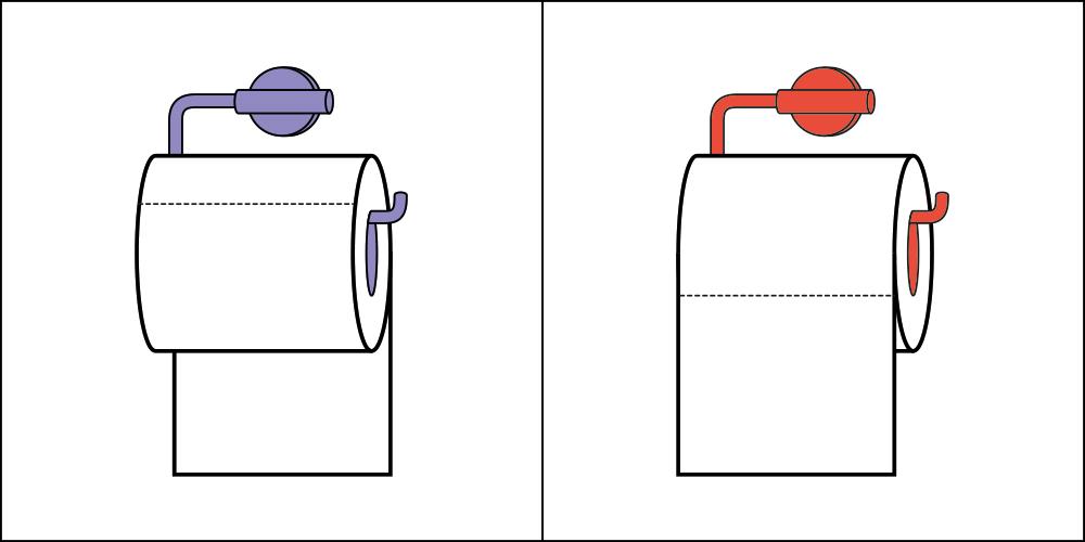Sposób wieszania papieru toaletowego