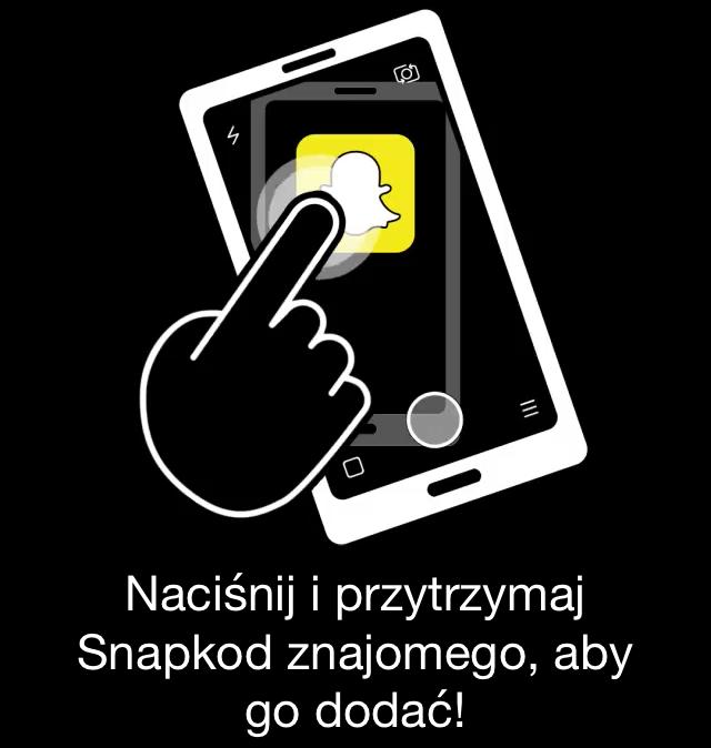 Dodawanie znajomych na Snapchacie za pomocą kodu Snapcode