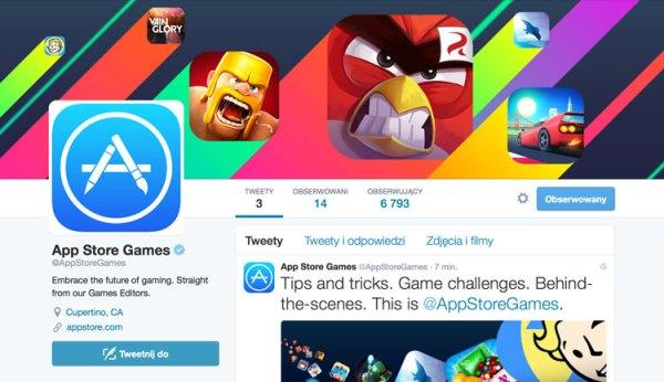 Oficjalne konto App Store Games na Twitterze