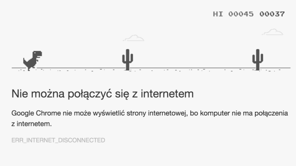 Ukryta gra w Google Chrome'ie