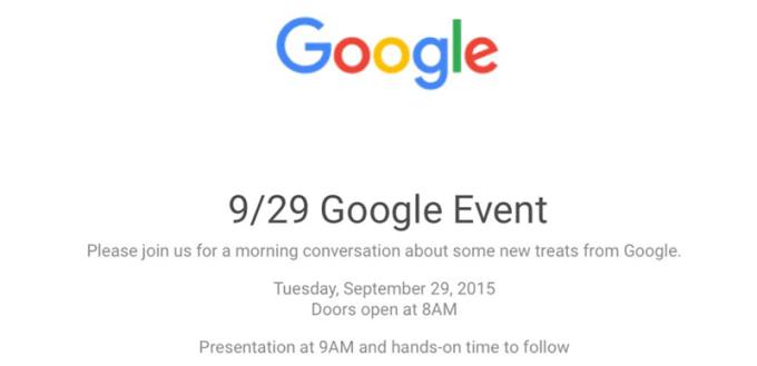 Zaproszenie na Google Event 29 września 2015 roku