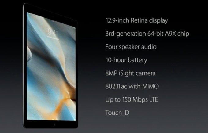 iPad Pro - specyfikacja