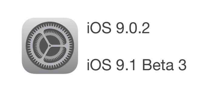 iOS 9.0.2 oraz iOS 9.1 Beta 3