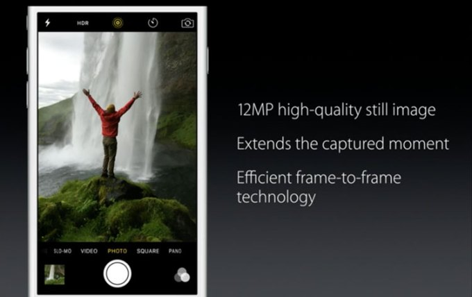 12 MP kamera iSight w iPhone'ie 6s