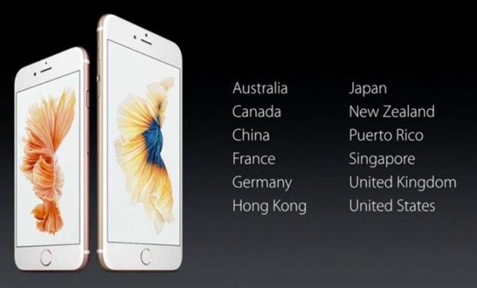 iPhone 6s - kraje, w których pojawią się najpierw iPhone'y 6s