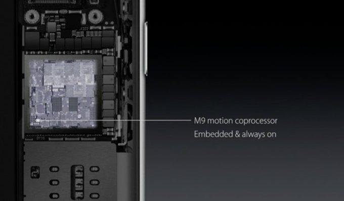 iPhone 6s wbudowany coprocesor M9