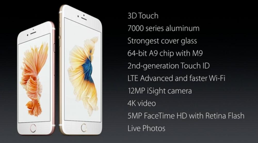 iPhone 6s - specyfikacja
