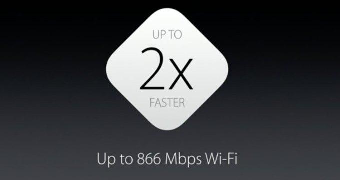 iPhone 6s - 2x szybsze Wi-Fi (do 866 Mbit/s