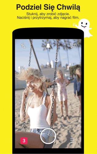 Screen z aplikacji Snapchat