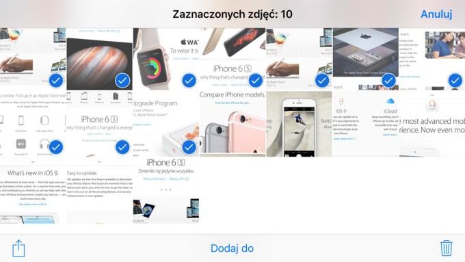 Masowe zaznaczanie i usuwanie zdjęć bezpośrednio z iPhone'a lub iPada
