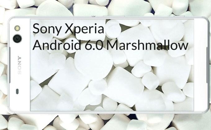 Sony Xperia Android 6.0 Marshmalllow
