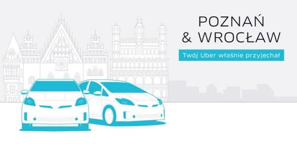Uber za darmo w Poznaniu i Wrocławiu do niedzieli