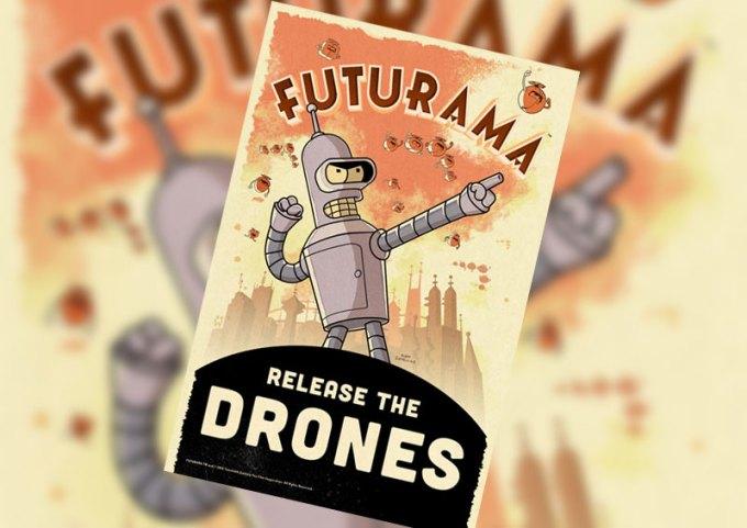 Futurama - Release the Drones - bra mobile