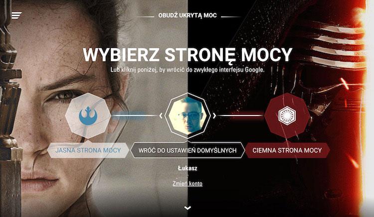 Google dla fanów Star Wars przygotowało niespodziankę ze specjalnymi motywami z filmu Gwiezdne Wojny.
