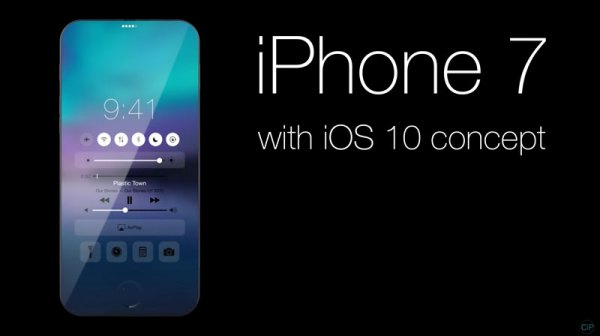iPhone 7 z systemem iOS 10 (koncept)