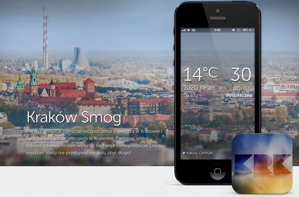 Aplikacja mobilna Kraków Smog