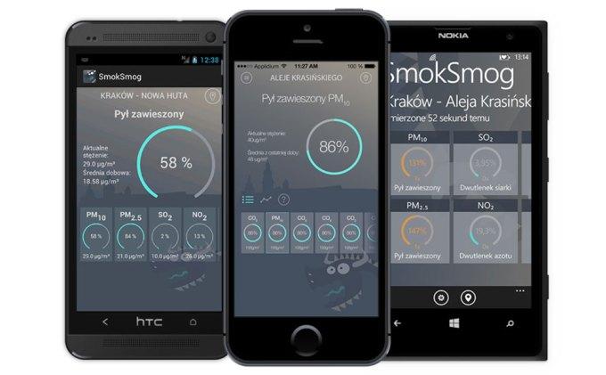 Aplikacja mobilna Smok Smog