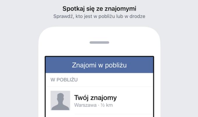Znajomi w pobliżu na Facebooku