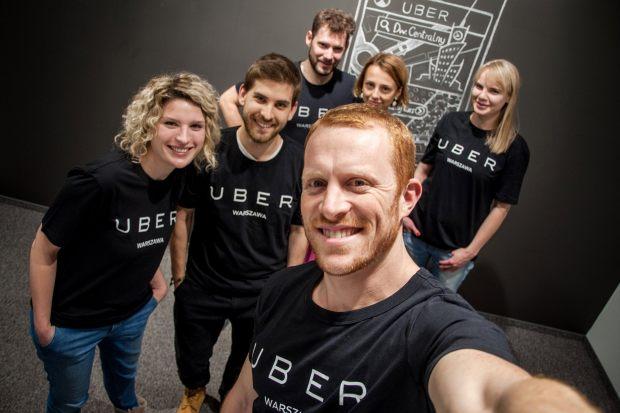 Pracownicy Ubera z Warszawy