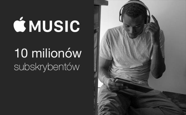 Już 10 mln wykupionych subskrypcji Apple Music