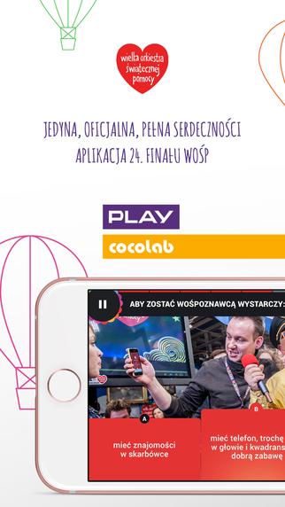 Aplikacja mobilna 24. WOŚP - screen
