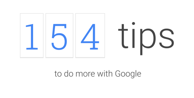 Google Tips - to do more with Google