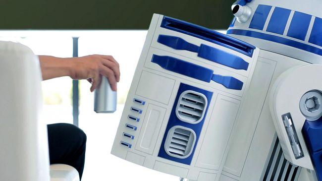Chodząca lodówka w kształcie robota R2-D2