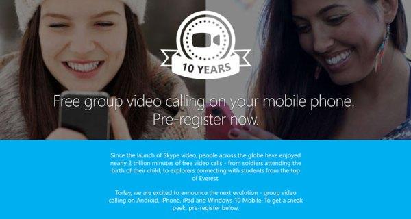 Mobilny Skype z funkcją grupowych wideorozmów