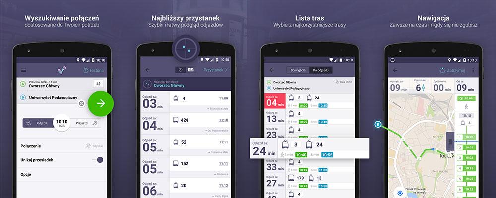 Aplikacja mobilna jakdojade.pl na Androida - screeny