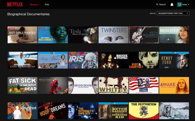 Zaawansowane filtrowanie po kategoriach, za pomocą kodów Netflix