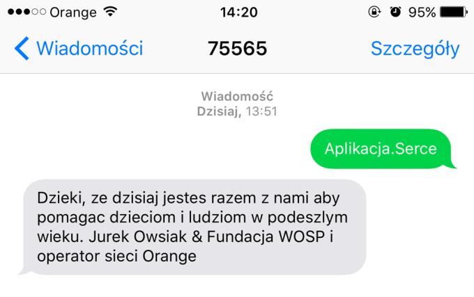 Pomocny SMS 24. Finału WOŚP