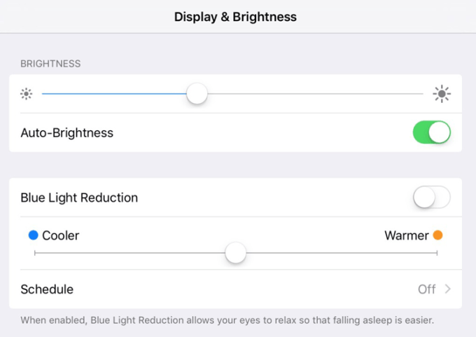 Redukcja światła niebieskiego iPhone z systemem iOS 9.3