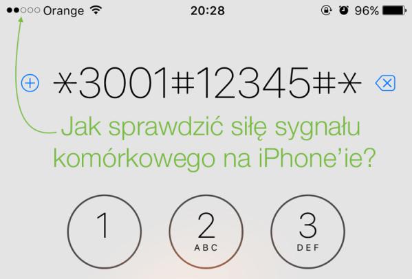 Wyświetl siłę sygnału sieci komórkowej na iPhone'ie