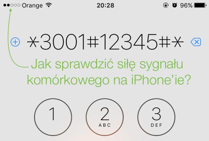 Jak spradzić siłę sieci komórkowej na iPhone'ie?
