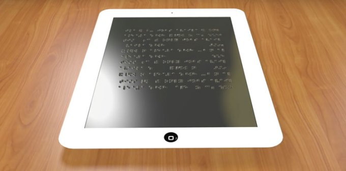 Tablet dla osób niewidomych