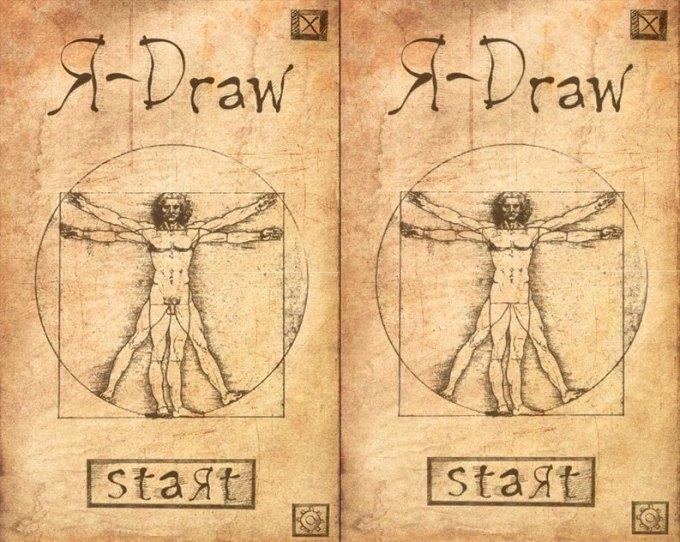 """""""Człowiek Witruwiański"""" Leonarda da Vinci w grze R-Draw"""