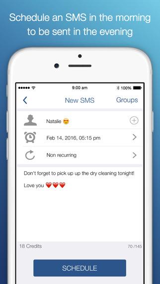 Aplikacja mobilna Delayd na iPhone'a, do wysyłki zaplanowanych SMS-ów