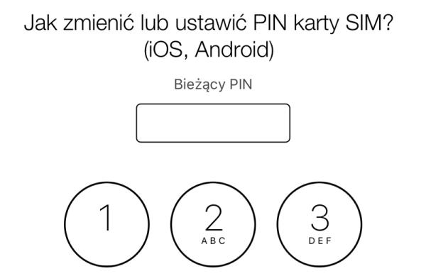 Jak zmienić kod PIN karty SIM?