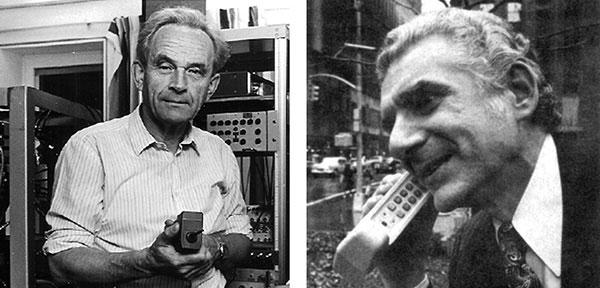 Pierwsza rozmowa przez telefon komórkowy (Martin Cooper i dr Joel S. Engel)