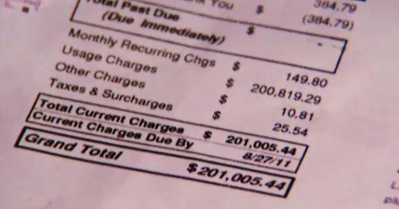 Najwyższy rachunek telefoniczny w historii (Celina Aaarons ponad 201 tys. dolarów)