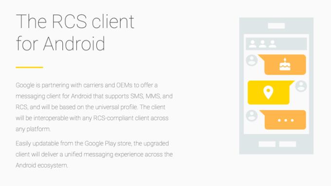 Komunikator mobilny działający w RCS na Androida