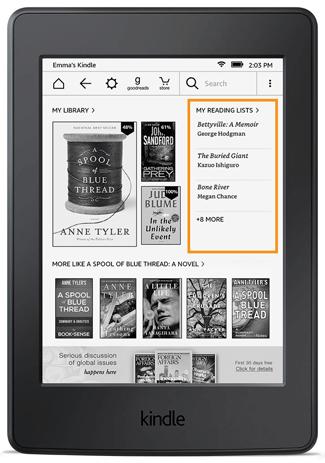 Rekomendacje książek na ekranie głównym (Kindle 5.7.2)