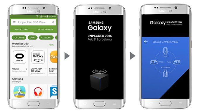 Aplikacja Unpacked 360 View (mobile)