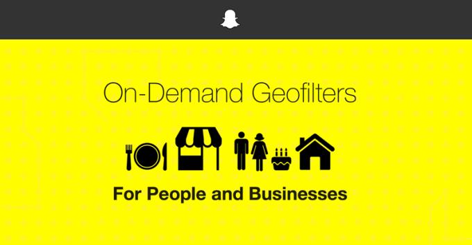 Usługa On-Demand Geofilters na Snapchacie