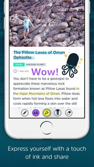 SQUID - Your News Buddy - screen z aplikacji