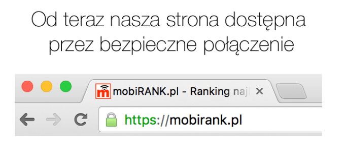 Strona mobiRANK.pl dostępna przez bezpieczne połączenie