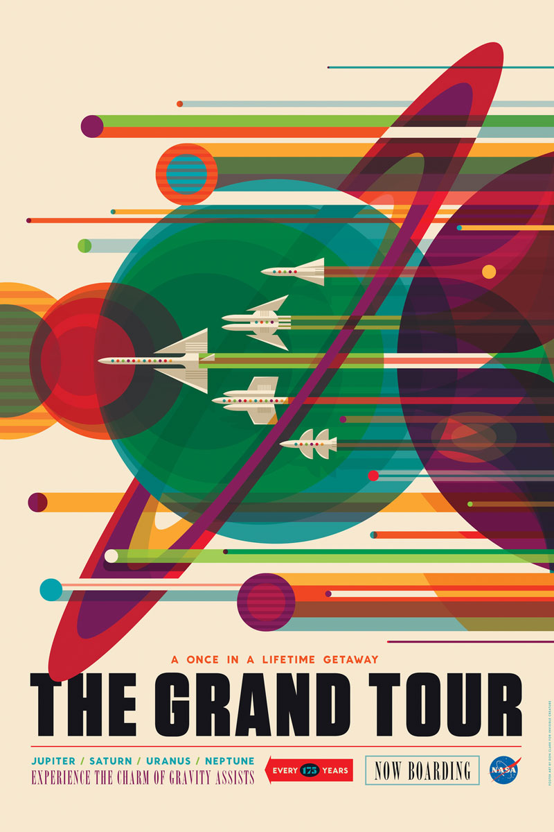 The Grand Tour - plakat NASA