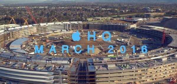 Postępy budowy Apple Campus 2